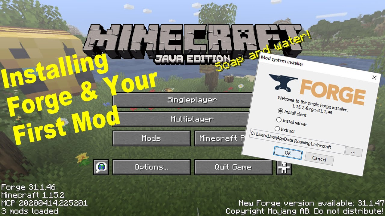 How To Install Minecraft Forge Java Edition 1 15 2 And Your First