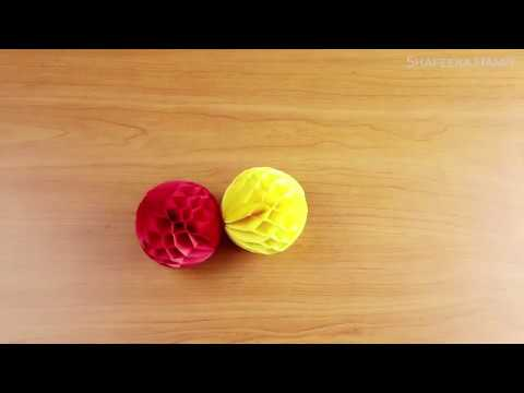 How to make a Paper Honeycomb Ball (DIY Paper Crafts)