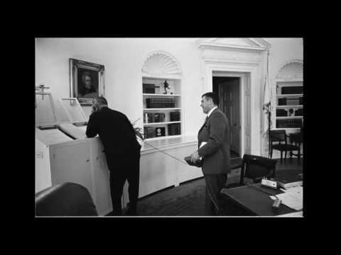 "Lyndon Johnson delivers ""the Johnson Treatment"""