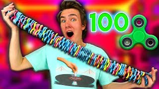 100 LAYERS of Fidget Spinners