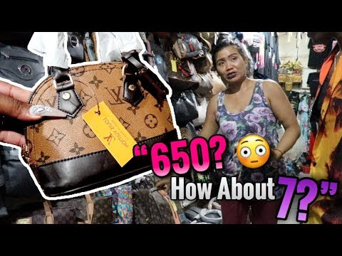 SHOPPING AT A FAKE DESIGNER MARKET IN BALI..😱.