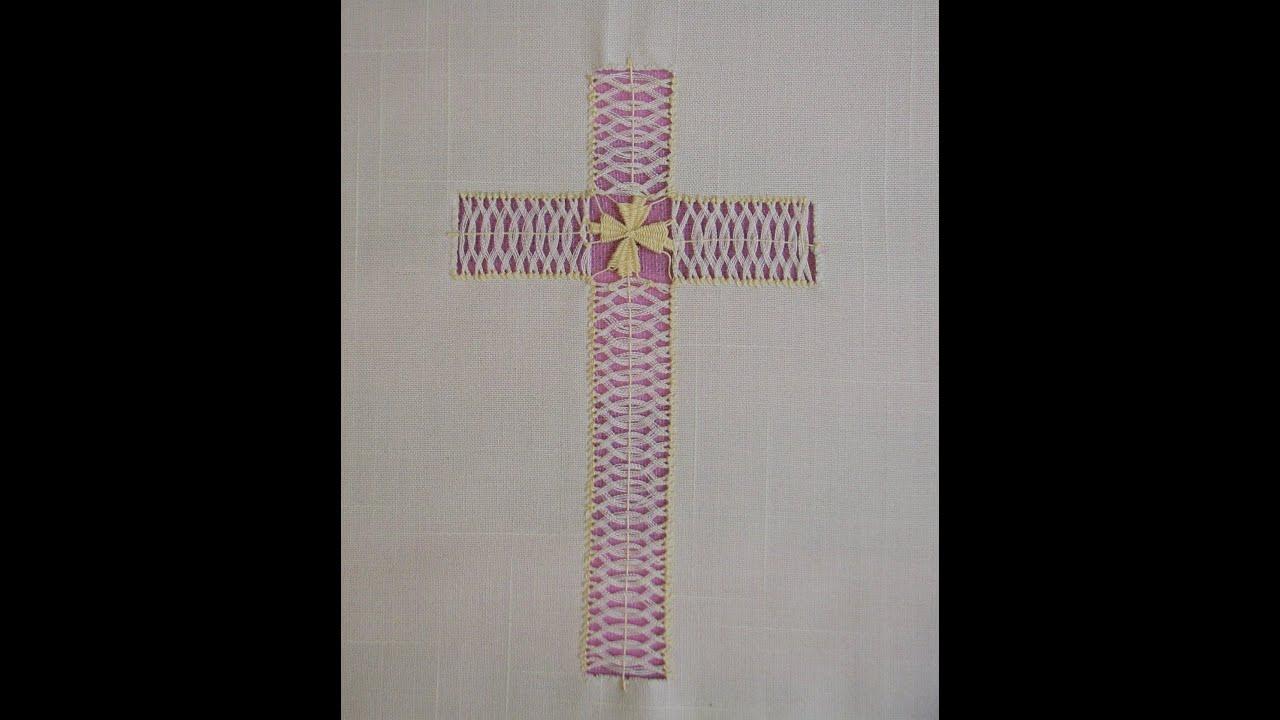 Deshilado Cruz para altar 3 de 4  YouTube