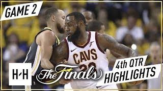 Cleveland Cavaliers vs Golden State Warriors - Game 2 - 4th Qtr Highlights   2018 NBA Finals