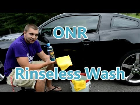 How to Rinseless Car Wash with Optimum No-Rinse + ONR Review on Black Mustang GT