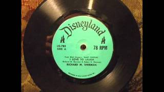 "Richard M. Sherman ""I Love to Laugh"" (Disneyland LG-782)"
