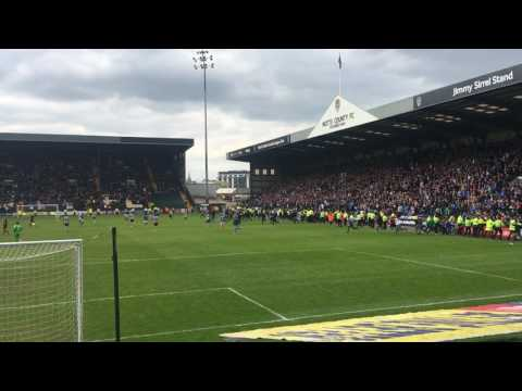 The Moment Portsmouth FC Promoted To League 1 At Notts County Pitch Invasion | Amazing Atmosphere