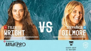 Stephanie Gilmore Takes On Comeback Surfer Tyler Wright at Maui Pro