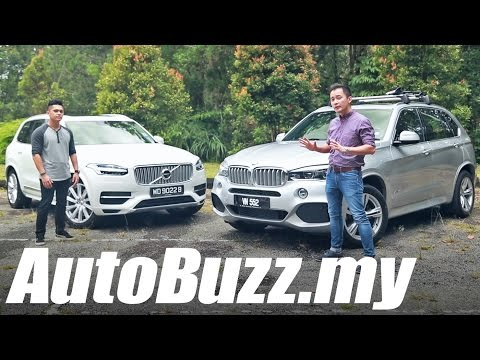 BMW X5 xDrive40e vs Volvo XC90 T8 Inscription plug-in hybrid review - AutoBuzz.my