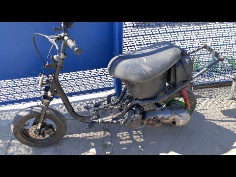 Собрал скутер Yamaha Jog на продажу/мой путь к длинной мине
