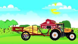 ☻ Fairy Tractors   Farm Work - Harvest of colza   Traktory, praca na Farmie - Zbiór Rzepaku ☻