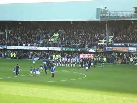 Pompey's blue army song and play up before scum game