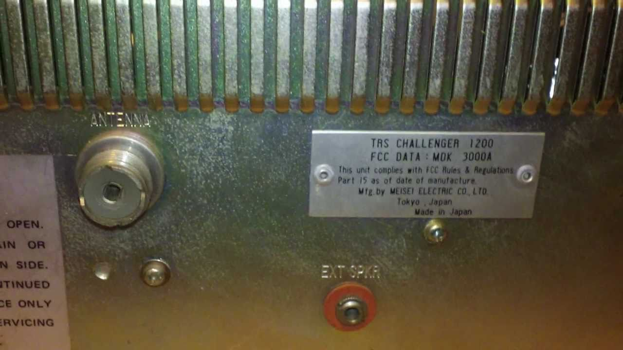 TRS Challenger 1200 CB Radio Video #2 of the back -- little more info by  262NagantRadios