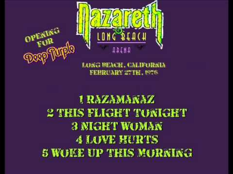 "NAZARETH "" Live in Long Beach Arena California "" 1976"