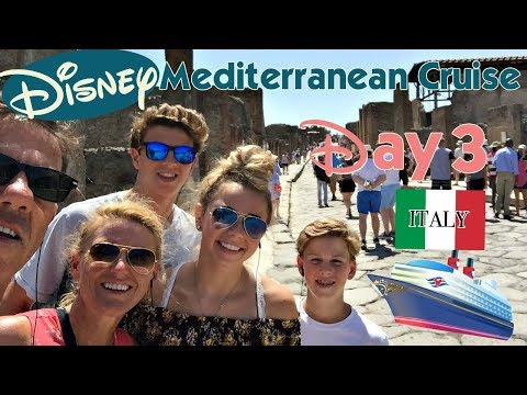 IT'S OUR DISNEY MEDITERRANEAN CRUISE | DAY 3: UNCOVERING AN ANCIENT ITALIAN CITY