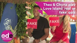 Theo and Chyna play the Love Island 'real or fake' quiz