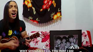 IT'S ONLY LOVE  by: The Beatles Ukulele cover with chord progression on KIWAYA KTS-7