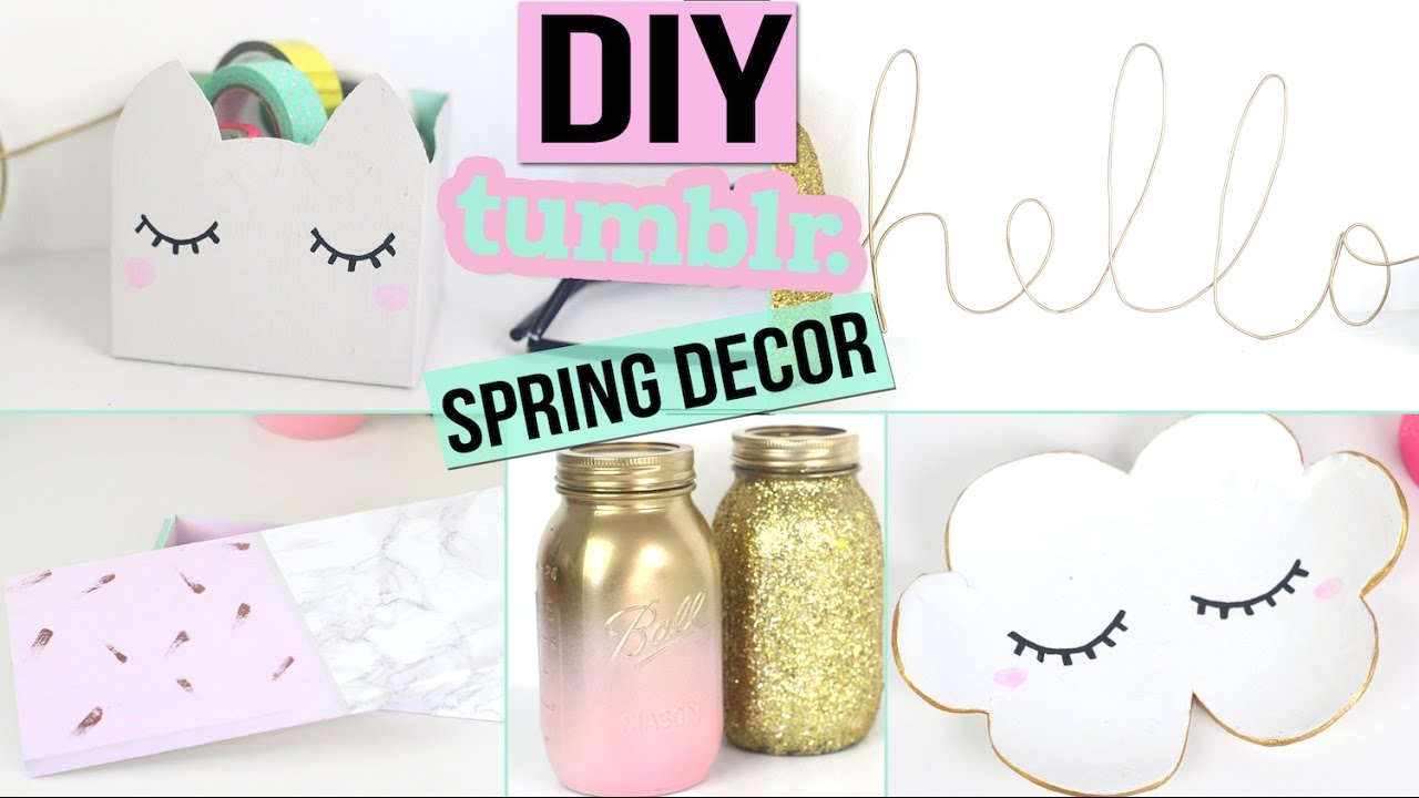 Diy printemps tumblr 6 deco pastel dor chambre ou bureau spring room decor francais youtube Bricolage paques idees deco maison