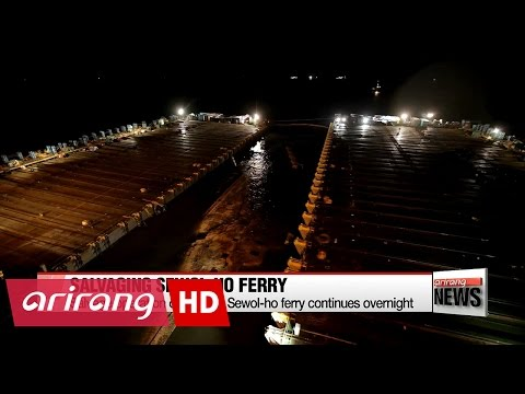 Salvage operation on sunken Sewol-ho ferry continues overnight