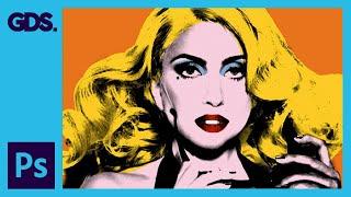 Create Andy Warhol Style Pop Art - Lady Ga Ga [Photoshop CS5]