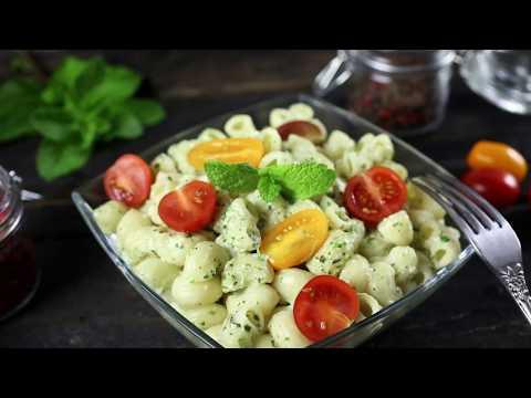 Как приготовить пасту со сливочным соусом песто и помидорами   Простой рецепт