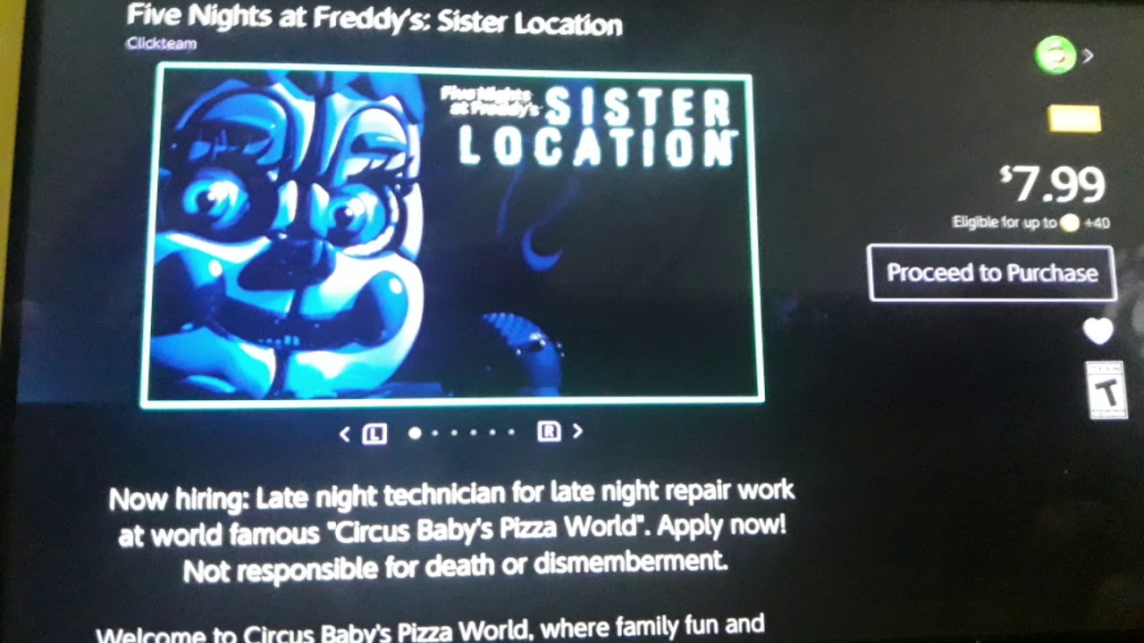 Five Nights at freddy's Sister Location (Nintendo Switch)
