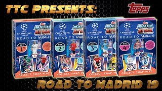 Match Attax Champions League ROAD TO MADRID 2019 UPDATE EDITION alle 4 Deck Box