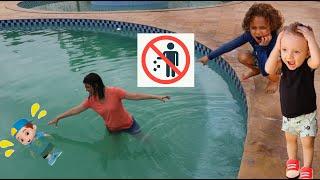 REGRAS DE CONDUTA PARA CRIANÇAS NA PISCINA! Cadu Pontes Learn Rules of Conduct for Children in Pool
