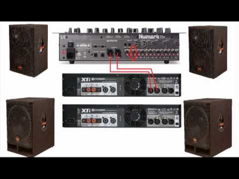 How do you hook up two amplifiers