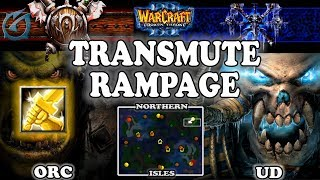 Grubby | Warcraft 3 TFT | 1.30 | ORC v UD on Northern Isles - Transmute RAMPAGE
