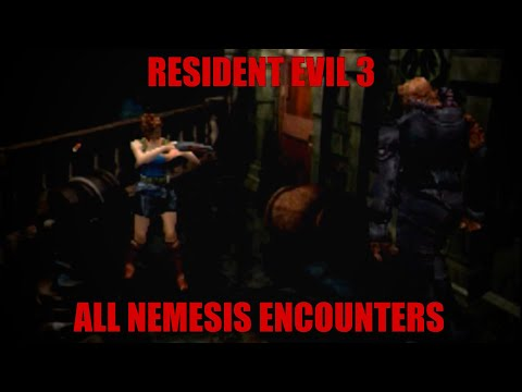 Resident Evil 3 - All Nemesis Encounters (Hard)
