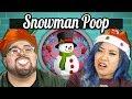 College Kids Vs. Food | SNOWMAN POOP CHALLENGE