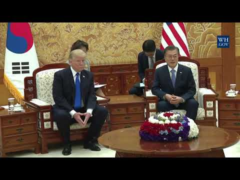 President Trump Participates in a Bilateral Meeting with President Moon Jae-In