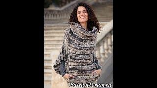 Меланжевый Пуловер Спицами для Женщин - 2019 / Melange Pullover Knitting needles for Women