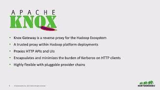 Apache Knox - Hadoop Security Swiss Army Knife