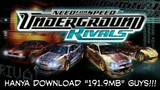 Need For Speed Underground Rivals iso (gameplay dan links downloadnya)