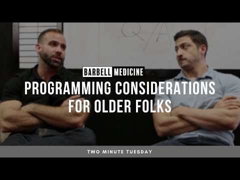 Two Minute Tuesday: Programming Considerations for Older Lifters
