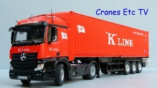 NZG Mercedes-Benz Actros FH23 StreamSpace with Container Trailer