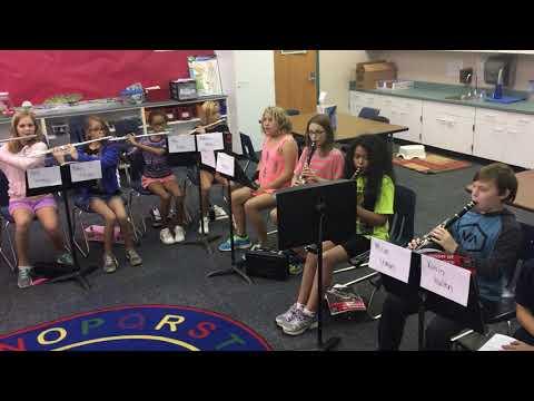 Bluejacket Flint 2018 5th Grade FIRST NOTE!