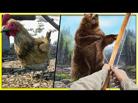 Using My Life Savings To Buy 1 Chicken - Big Game Bear Hunting - Medieval Dynasty |