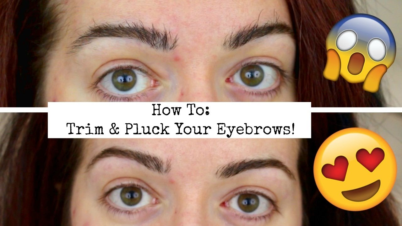 How To Trim Tweeze Eyebrows Shape Perfect Natural Brows Youtube