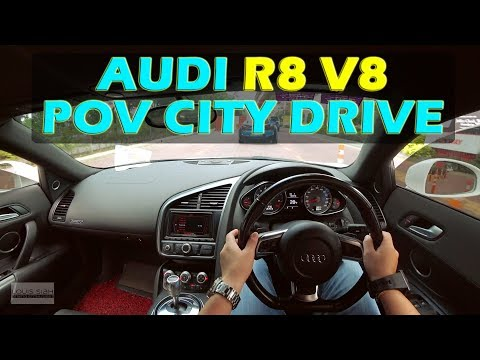 Malaysia Audi R8 V8 POV Drive - Slow City Drive But LISTEN TO THAT V8 #audir8 #audir8v8