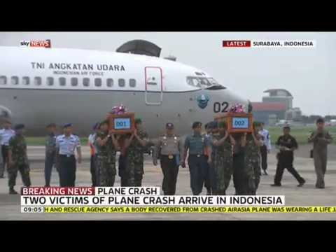 Bodies Of AirAsia Plane Crash Victims Returned To Indonesia