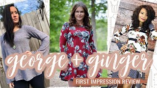 George + Ginger Sewing Pattern  |  First Impression