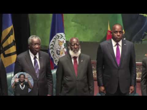 CARICOM HEADS OF GOVERNMENT MEETING OFFICIALLY OPENS
