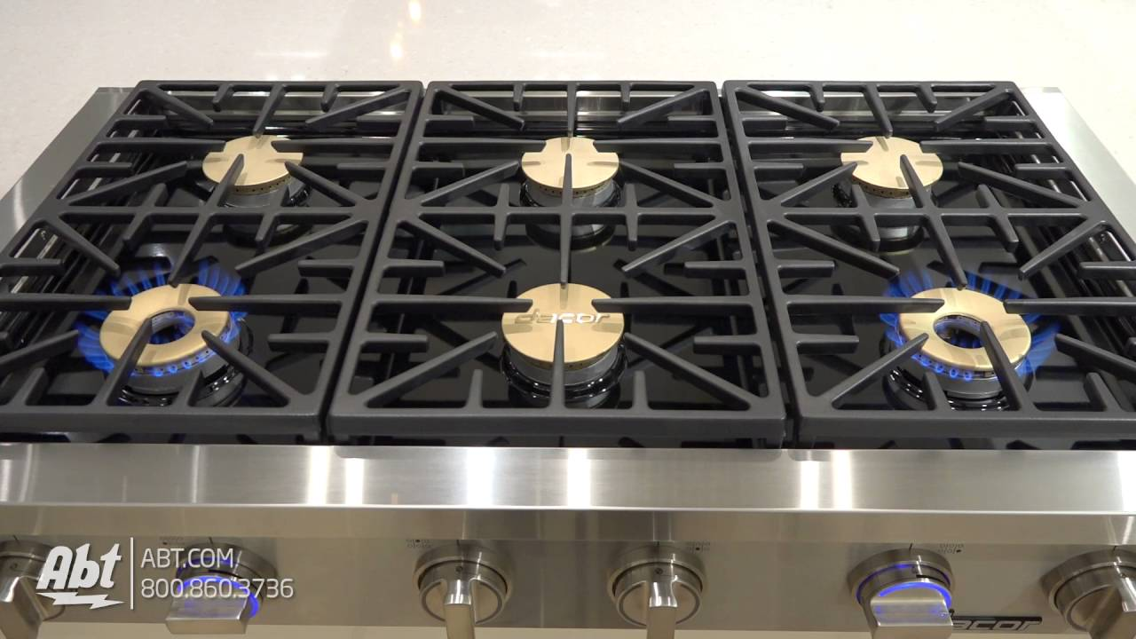 Dacor discovery 48 stainless steel gas rangetop dyrtp486s for Dacor 48 rangetop