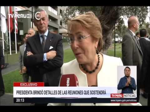 Michelle Bachelet llegó a Lima para participar en APEC 2016