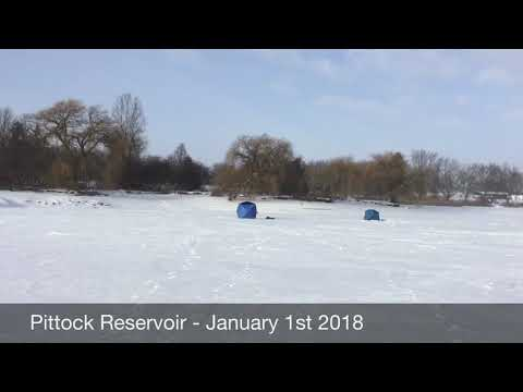 Ice Fishing Report - Pittock Reservoir - January 1st 2018