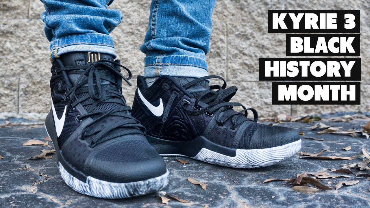 cd5944bdf7ab Kyrie 3 Is 🔥 w  Jeans - BHM Review + On Foot - YouTube