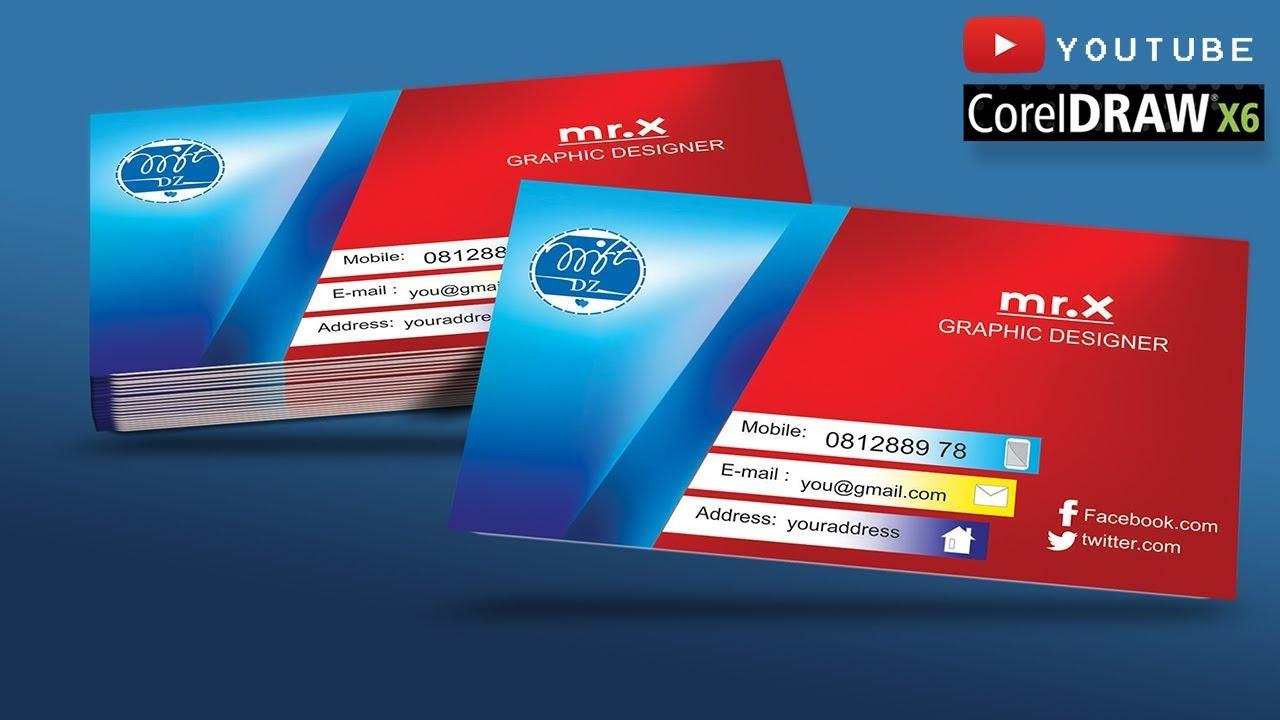 Graphic Designer Business Card In CorelDraw Vector