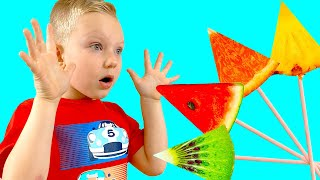 The Fruit Colors Song  Martin Pretend Play Sing Along Nursery Rhymes & Kids Songs